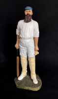 W G Grace - Modern Sculpture by Peter Mook