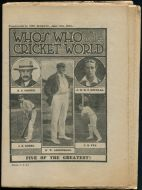 Who's Who in the Cricket World Supplement to The Marvel, June 18th 1921
