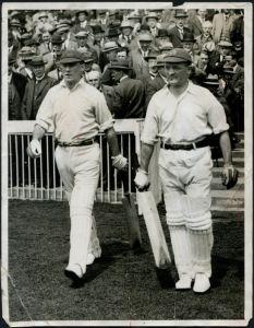 Charlie Hallows and Harold Makepeace (Lancashire & England)