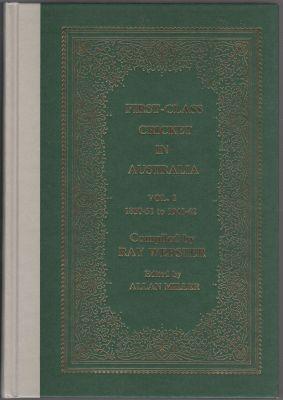 Webster R - First Class Cricket in Australia Vol 1