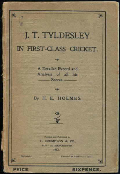 J T Tyldesley In First-Class Cricket