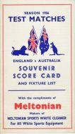 Australian Tour to UK 1956