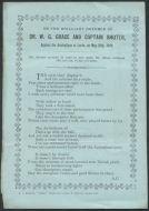 Craig, Albert.  Poem 'Dr WG Grace And Captain Shuter'