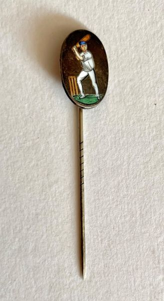 Silver Cricketing Stickpin