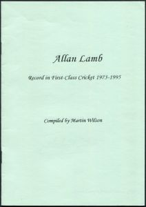 Allan Lamb Record in First Class Cricket 1973-1995