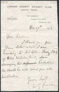 WG Grace Letter