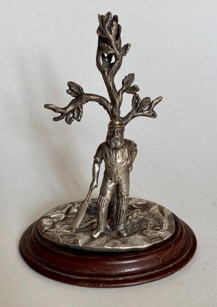 W G Grace Silver Flute Vase