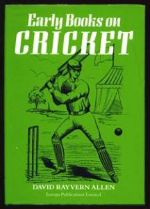 Allen, DR: Early Books on Cricket