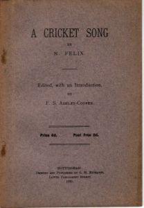 Felix, N: A Cricket Song