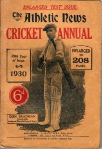 Athletic News Cricket Annual 1930