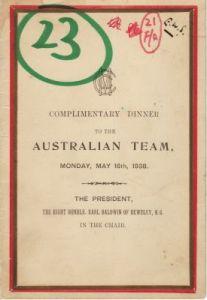 Australians to UK 1938