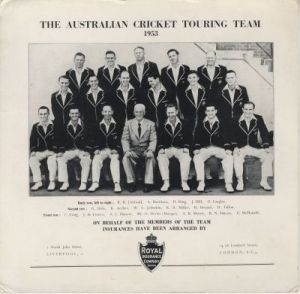 Australian Cricket Touring Team 1953