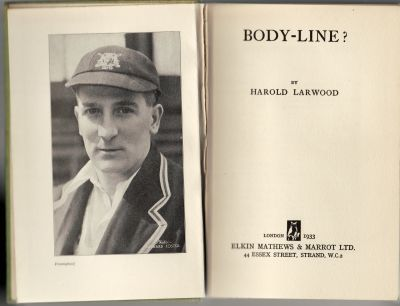 Larwood, H: Body-Line?