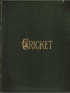 Cricket:  A Weekly Record of the Game  Vol. VIII