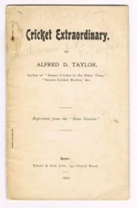Taylor AD - Cricket Extraordinary