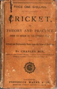 Box, C: Cricket, its Theory and Practice