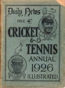 daily News Cricket & Tennis Annual 1926