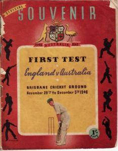 England v Australia Official Souvenir 1946