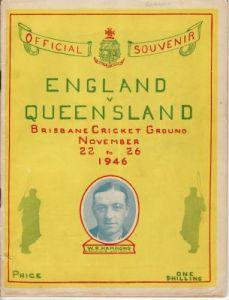 England v Queensland Official Souvenir  1946