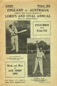 England v Australia 1930