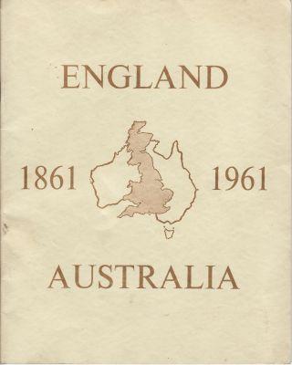 Australians to UK 1961