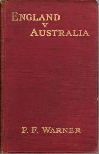 Warner, PF:  England v Australia