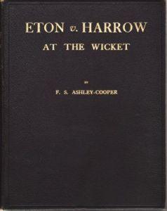 Ashley-Cooper, F S: Eton v Harrow At The Wicket