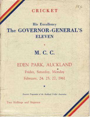 MCC to New Zealand 1960-61