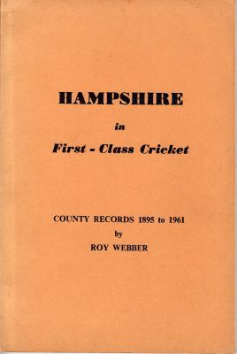 Webber, R: Hampshire in First-Class Cricket