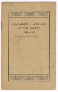 Ashley-Cooper FS - Lancashire v. Yorkshire At The Wicket 1849-1923