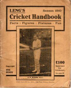 Leng's Cricket Handbook 1910