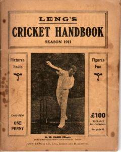 Leng's Cricket Handbook 1911