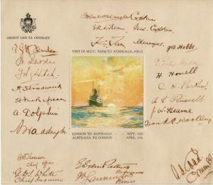 MCC Tour to Australia 1920-21
