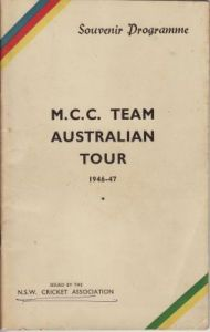 MCC to Australia 1946-47