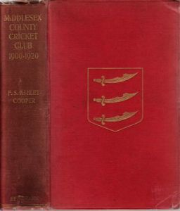 Ashley-Cooper, FS: Middlesex County Cricket Club 1900-1920