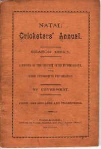 Natal Cricketers' Annual 1884-85