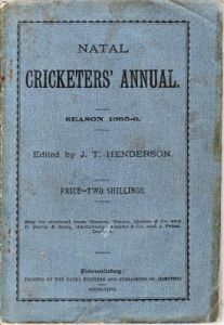 Natal Cricketers' Annual 1885-86