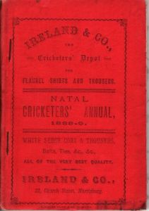 Natal Cricketers' Annual 1888-89