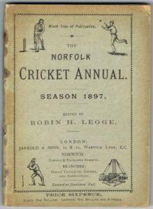 Legge RH - The Norfolk Annual Season 1897