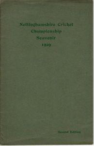 Ashley-Cooper, FS: Nottinghamshire Cricket Championship Souvenir 1929