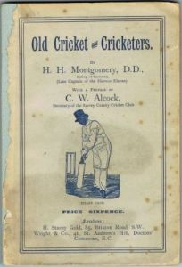 Montgomery HH - Old Cricket and Cricketers