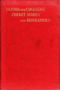 Betham, JD: Oxford and Cambridge Cricket Scores and Biographies