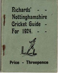 Richards' Nottinghamshire Cricket Guide For 1924