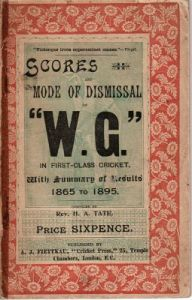 Tate, Rev. H.A: Scores and Mode of Dismissal of