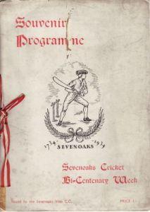 Sevenoaks Cricket Bi-Centenary Souvenir Programme