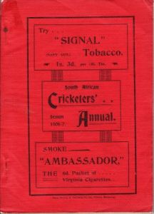 South African Cricketers' Annual 1906-07