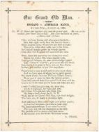 WG Grace Poem, Our Grand Old Man by Albert Craig