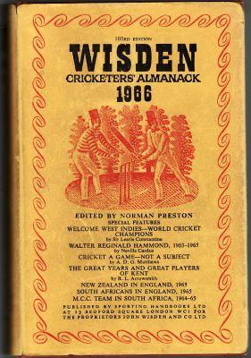 Wisden 1966