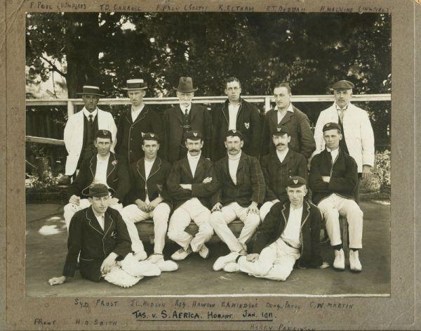 Tasmania v South Africa, Hobart, Jan 1911