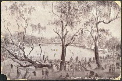 Melbourne Cricket Ground in 1864